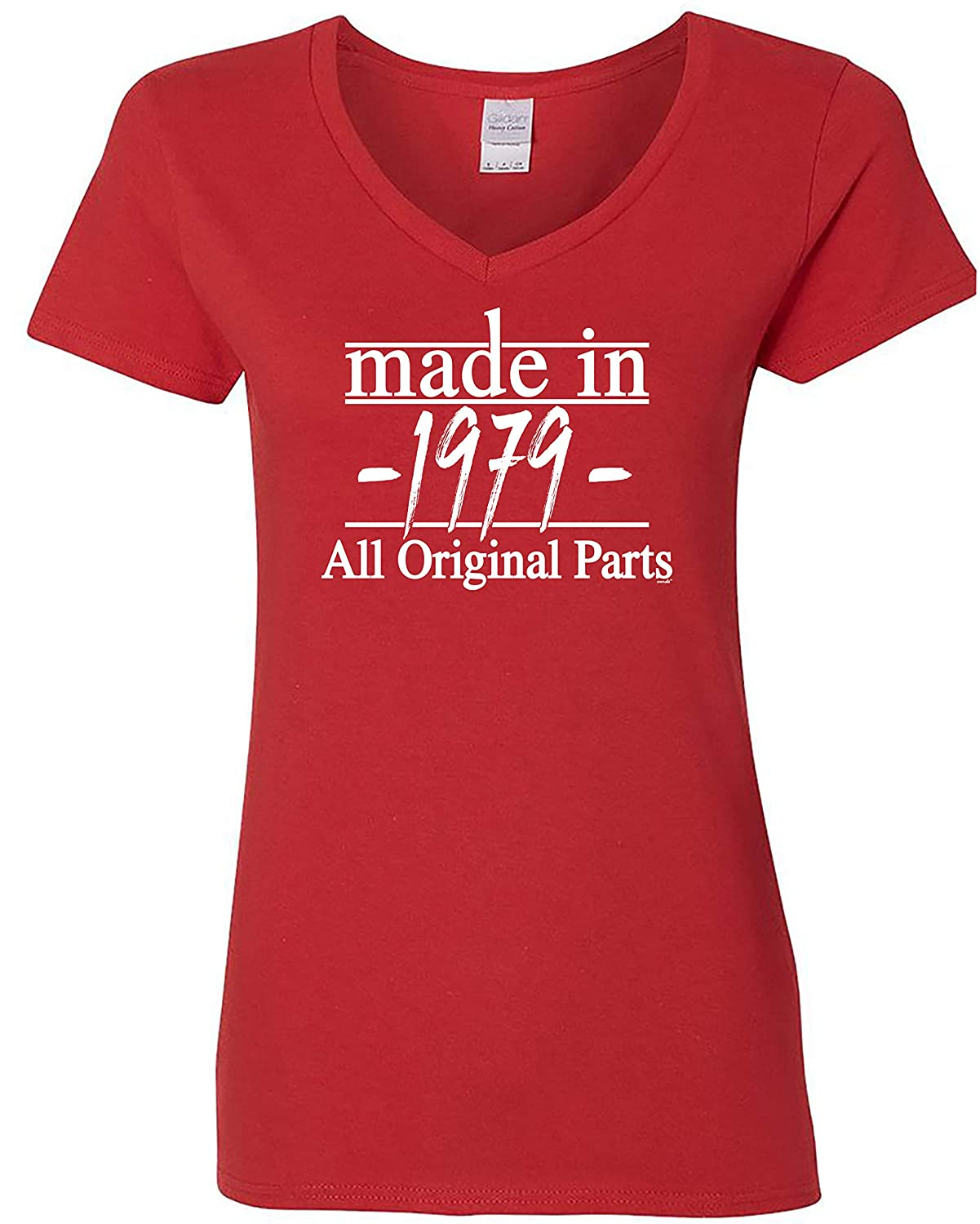 40th Birthday Gifts Made in 1979 All Original Parts Women V-Neck Tee