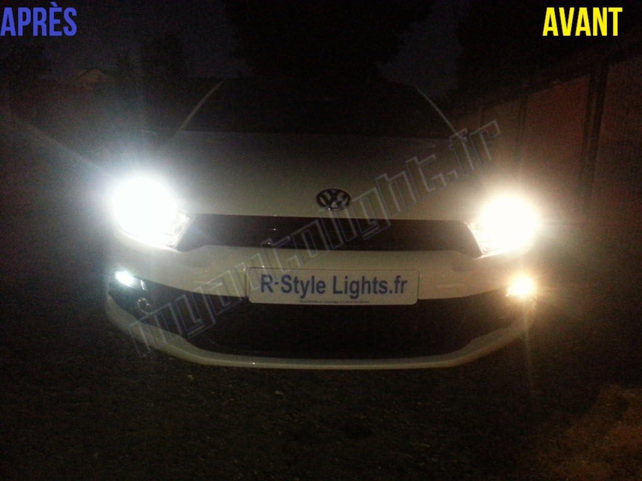 Pack ampoules H7 blanc xenon feux croisement-code pour Scirocco MyAutoLight