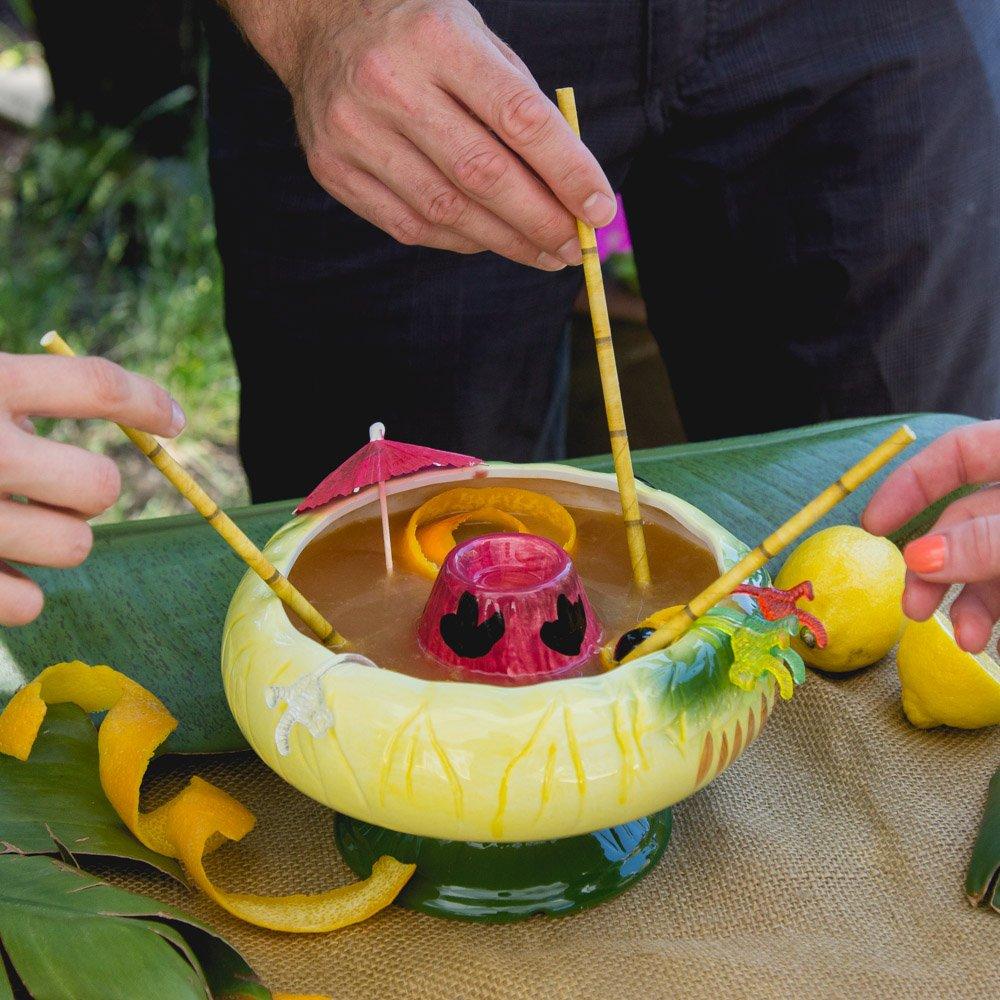 Volcano Bowl Ceramic Tiki Cocktail Bowl - 32 oz