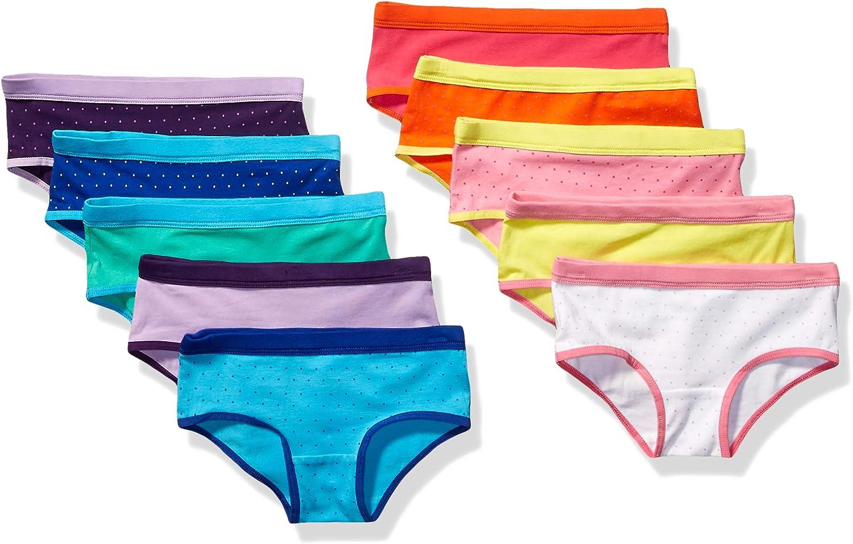 Essentials Little Girls 10-Pack Hipster Underwear