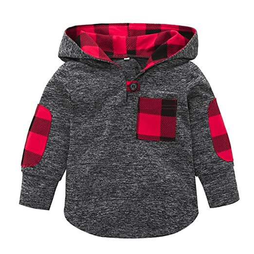 Fashion Toddler Kids Boys Long Sleeve Hooded Tops Jacket Coat Outerwear 1-6T