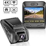 "TryAce Dash Cam 4K UHD WiFi Car Dashcam 2.4"" LCD 170° Wide Angle Dashboard Camera Recorder with WiFi, G-Sensor, WDR, Loop Recording Dash Camera for Car"