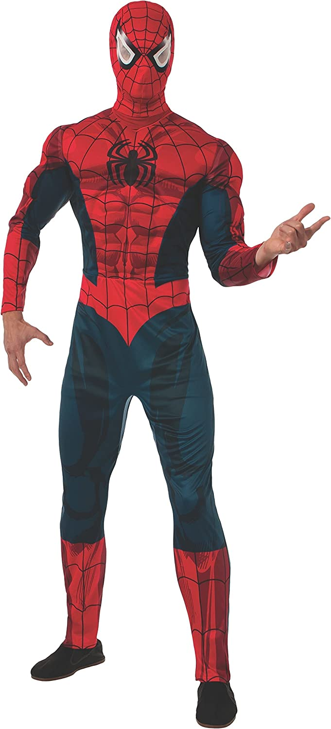 Marvel Rubie's Universe Deluxe As mens Shown Spiderman Costume outfit