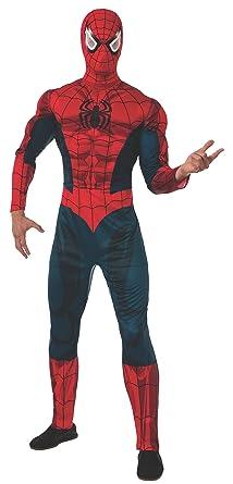 Marvel Incluye el Mono Deluxe Spider-Man Disfraz para Adulto ...