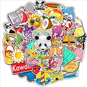 Laptop Stickers for Hydroflasks,50 Pack Cute Funny Stickers Waterproof Laptop Stickers,Vinyl Decal for Laptop Skateboard Water Bottle Phone Bike Car Luggage Guitar Travel Case