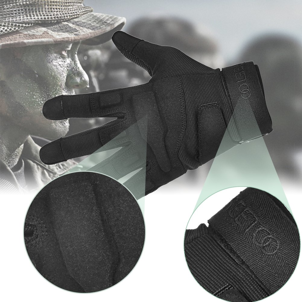 TPRANCE Tactical Gloves for Men, Full Finger Hard Knuckle Gloves for Outdoor Sports by TPRANCE (Image #2)