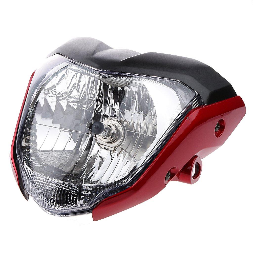 Almencla LED Bombilla de Faro para Motocicletas Retro Motocicleta Blanco Luz de Circulaci/ón Diurna Negro y Rojo
