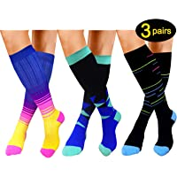 e4c95efd203 ACTINPUT Compression Socks (20-25mmHg) For Women Men - Best for  Running