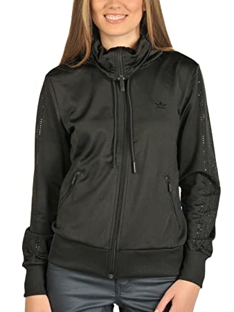 d497c9c10117c adidas Firebird Women's Rhinestone Tracksuit Top black Size:40 ...