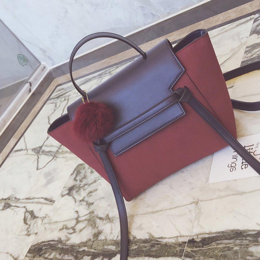 Fashion Peeling Traf die Farbe Haar Ball Fledermaus Tasche Handtasche Schulter Diagonal Weibliche Paket , rot