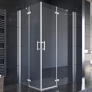Cabina de ducha Sonni, puerta con bisagras, puerta de esquina ...