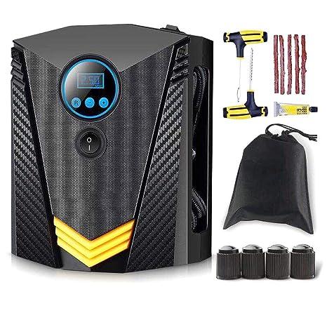 Inflador digital de llantas para medidor de autos - Compresor de aire portátil - Bomba eléctrica
