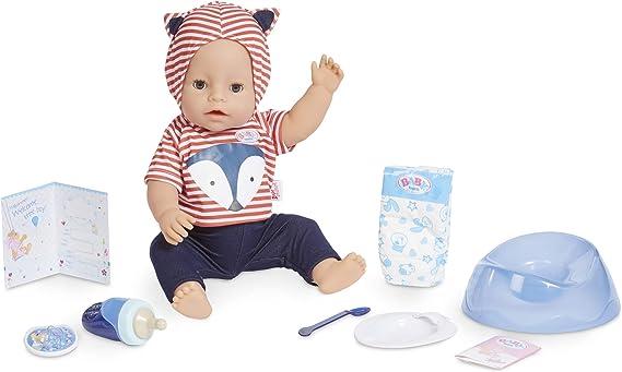 Amazon.com: Baby Born Interactive Boy – Blue Eyes with 9 Ways to Nurture: Toys & Games