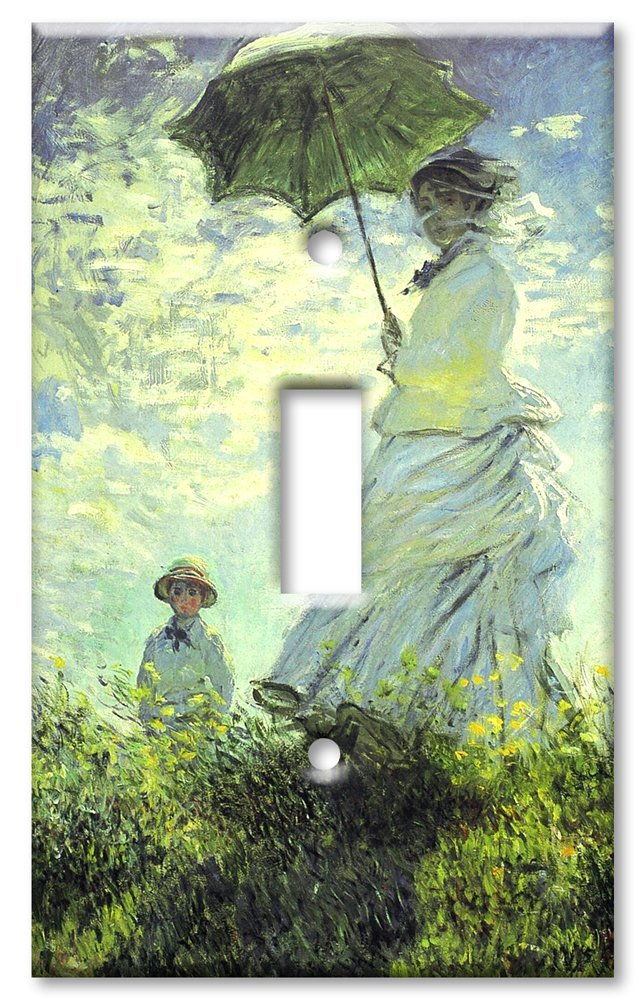 Art Plates - Monet: Woman with Parasol Switch Plate - Single Toggle by Art Plates