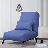 Sofa Recliner Chair for Living Room and Bedroom, Living Room Slipper Chair Adjustable Backrest with Pillow