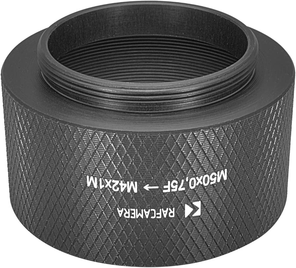 M50x0.75 Female to M42x1 Male Long Adapter for Rodenstock Lenses