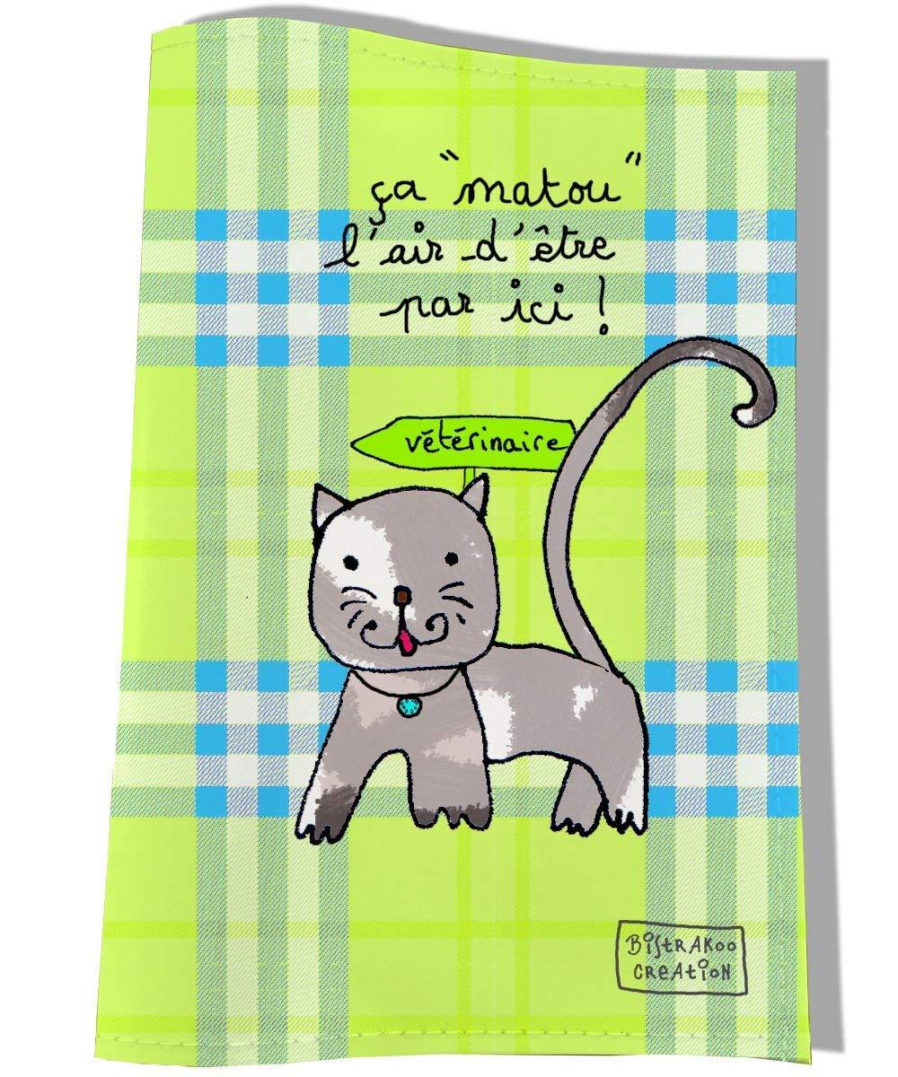Protège carnet de santé pour chat, Coloris vert, réf. C2203 réf. C2203