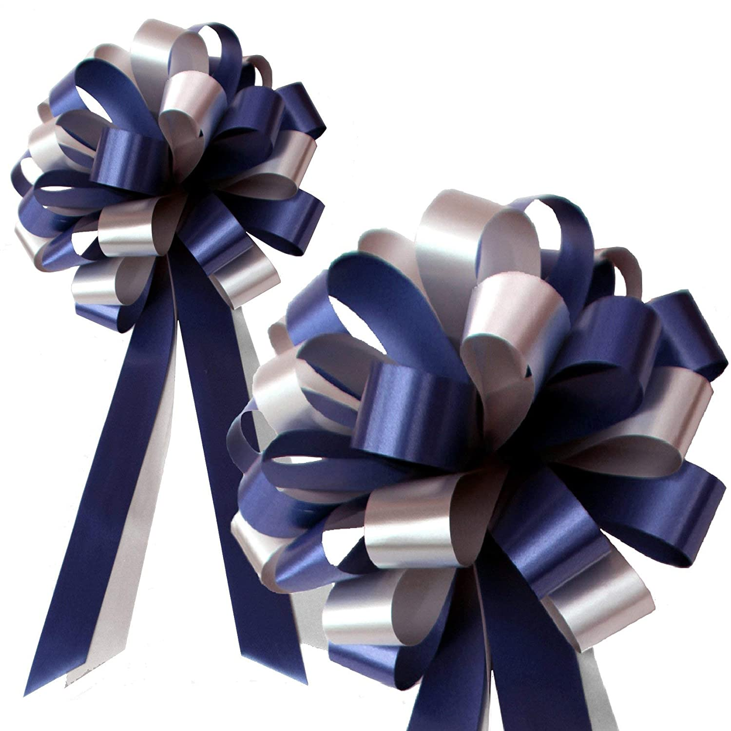 Reception Fundraiser Mothers Day 20 cm Christmas Fathers Day Set of 6 Boxing Day Wide Easter GiftWrap Etc 8 in Europe Day Navy Blue and Silver Wedding Pew Pull Bows