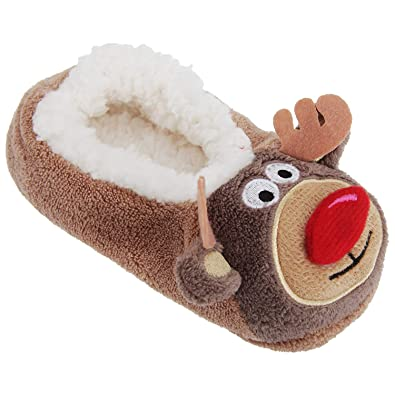 co zees christmas super soft 3d slippers santa rudolf reindeer and snowman