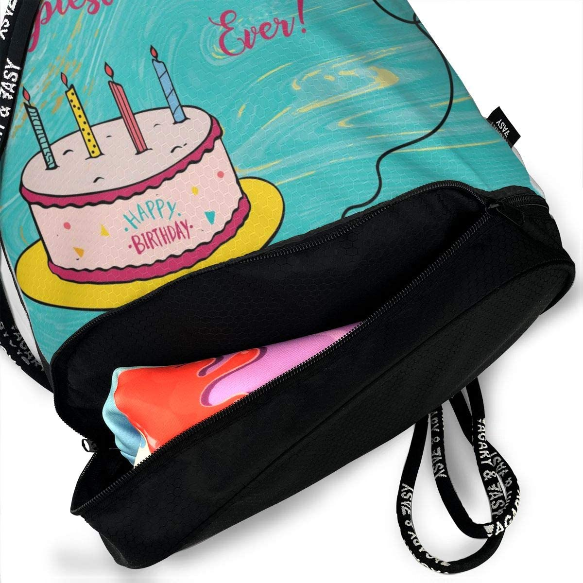 Happy Birthday Wishes Cakes Multifunctional Bundle Backpack Shoulder Bag For Men And Women