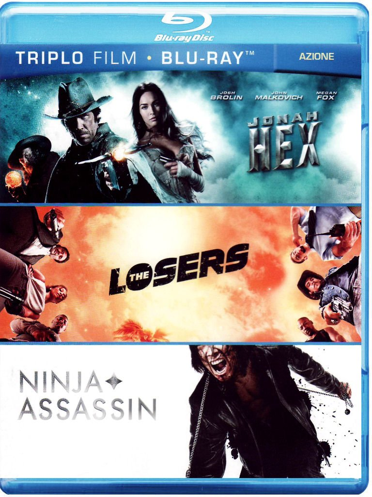 Jonah Hex + The losers + Ninja assassin Italia Blu-ray ...