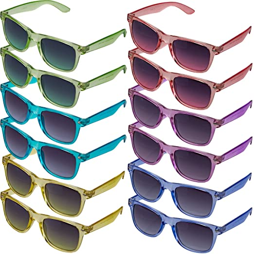 4fd91064edb Fashion Shades 12 Pairs Translucent Sunglasses Assorted 100% UV ...