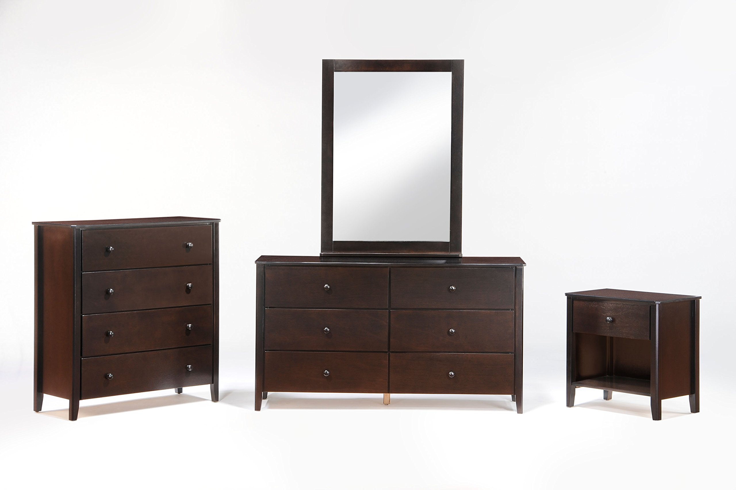 Night & Day Furniture Zest 4 Drawer Chest in Chocolate Finish
