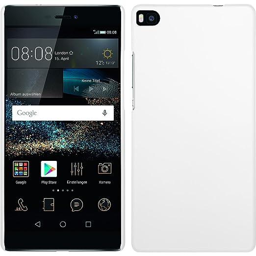 43 opinioni per Custodia Rigida per Huawei P8- gommata bianco- Cover PhoneNatic + pellicola