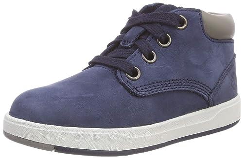 79d469d9114 Timberland Unisex Kids' Davis Square Leather Chukka Boots, Blue ...