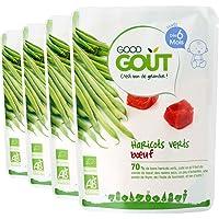Good Goût - BIO - Haricots Verts Bœuf dès 6 Mois 190 g - Lot de 4