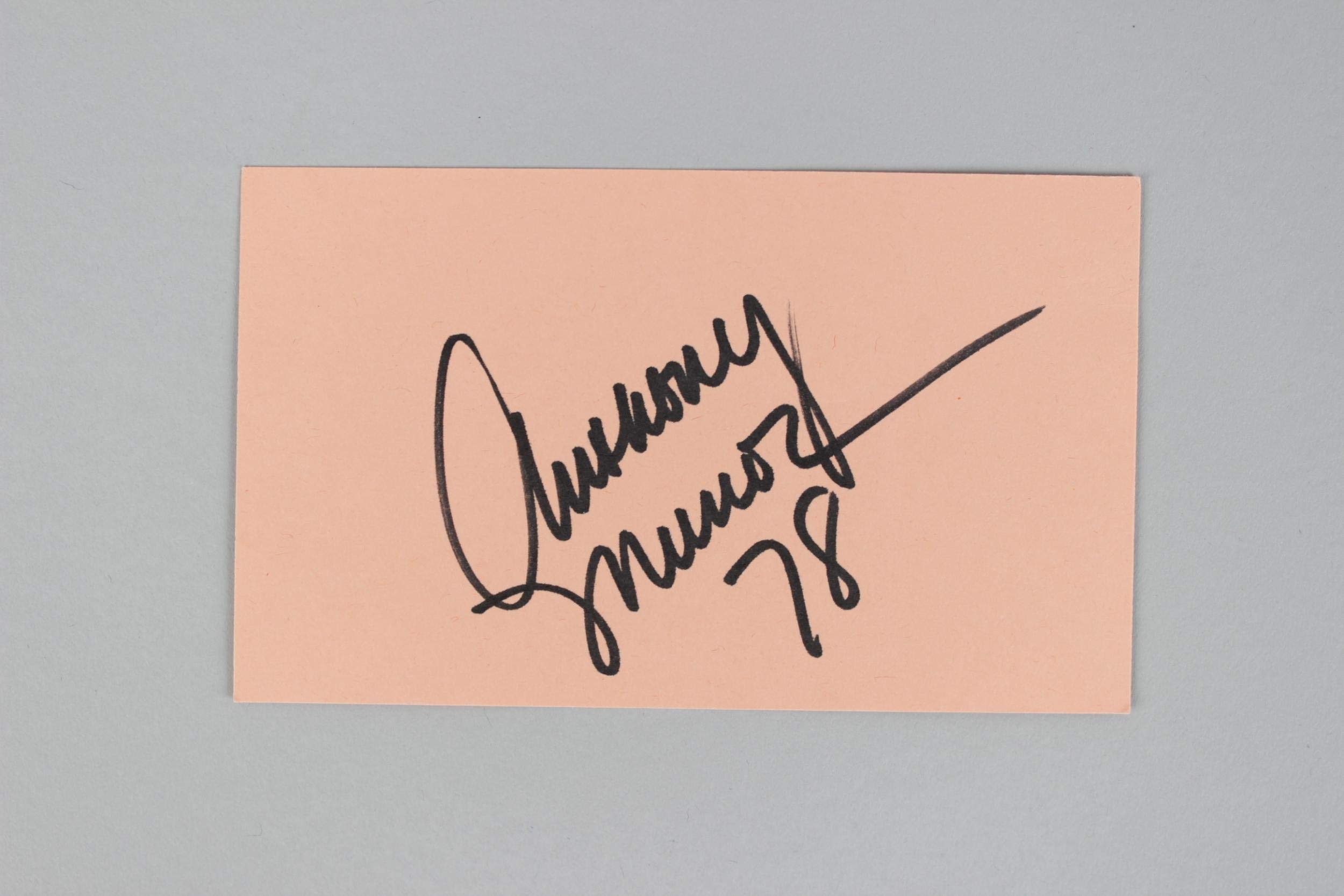 Cincinnati Bengals Anthony Munoz Signed & Inscribed 35 Index Card COA JSA Certified NFL Cut Signatures