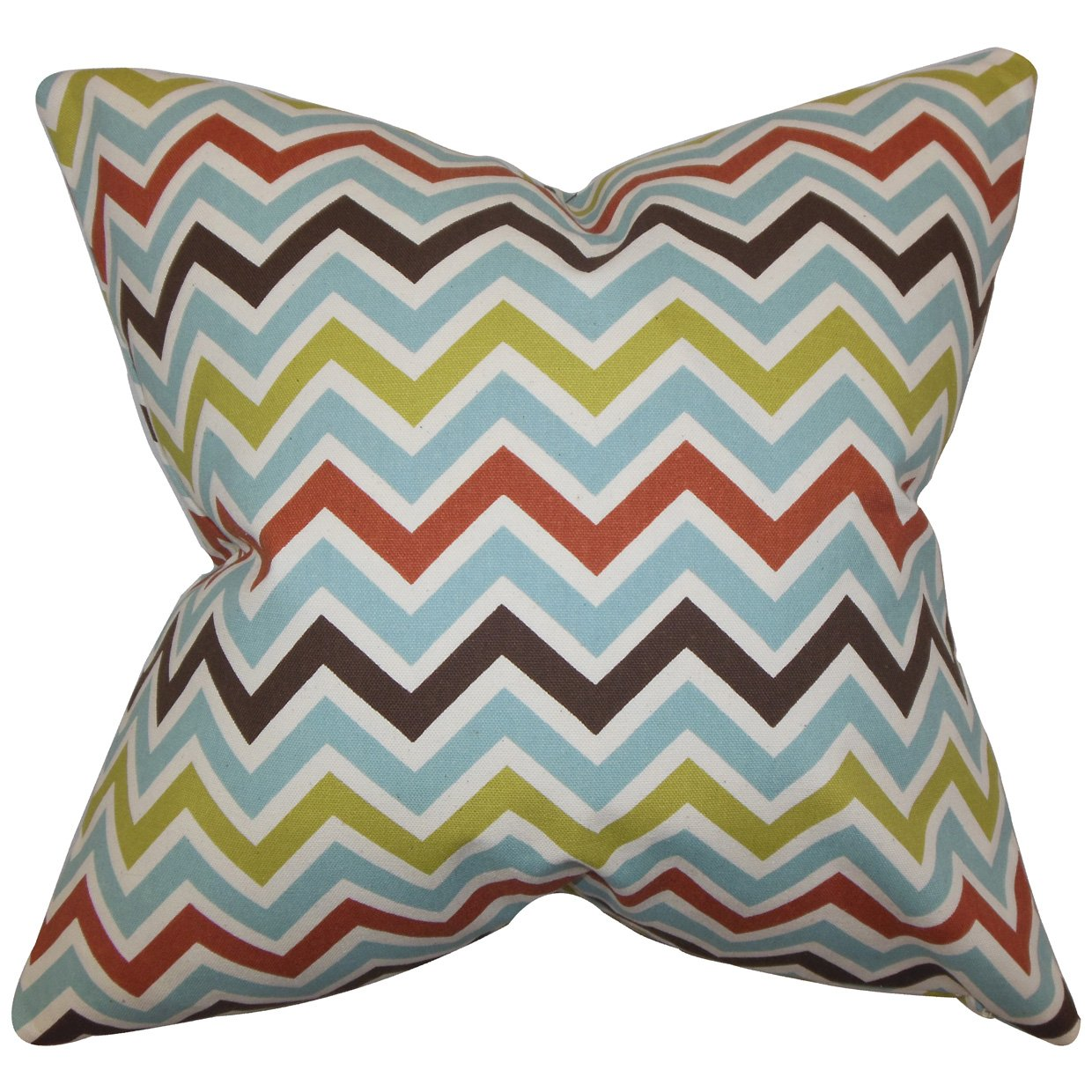 The Pillow Collection Quito Zigzag Bedding Sham Blue European//26 x 26,