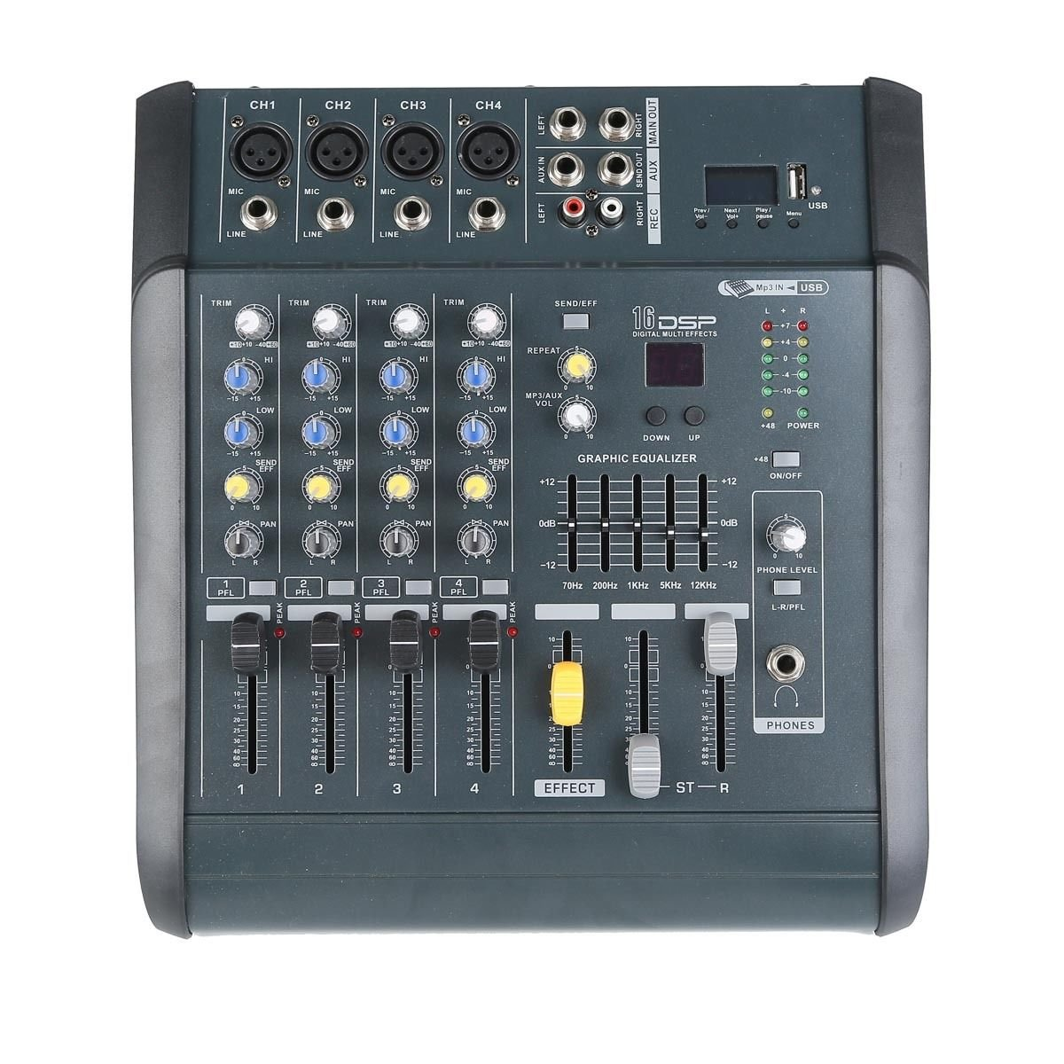 TC-Home 4 Channel Professional Powered Mixer power mixing Amplifier Amp 16DSP with USB Slot by TC-Home (Image #1)