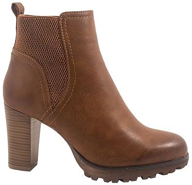 Spot on Damen Ankle Boots (37 EU) (Schwarz (Leder-Optik)) csOrY