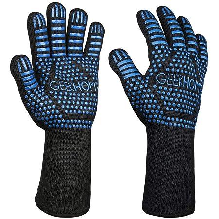 GEEKHOM Guantes Horno, Guantes de Cocina, Oven Gloves, 33cm Kevlar ...