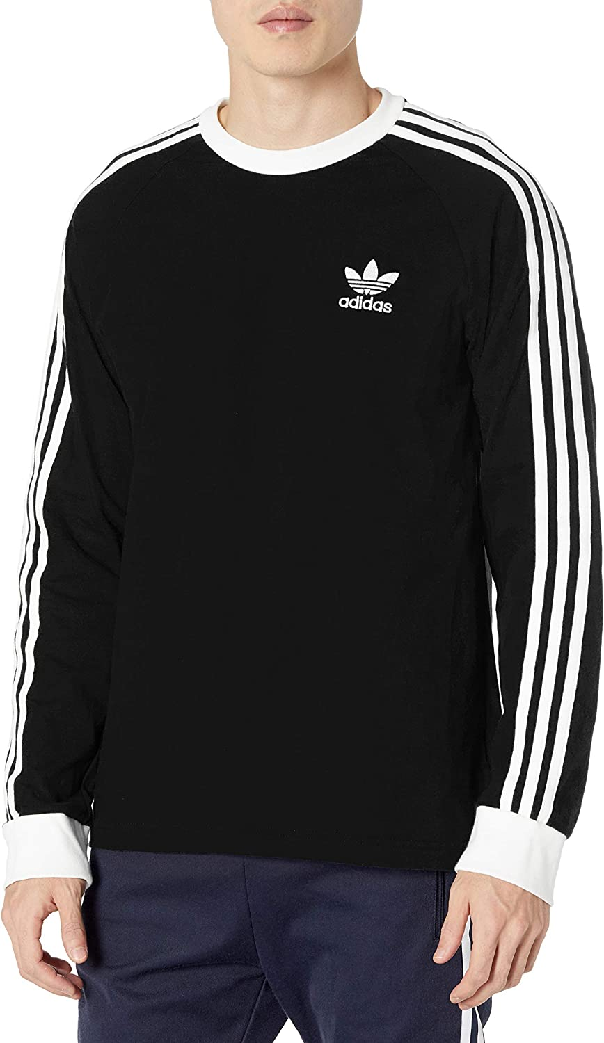 jefe Licuar Sucio  adidas Originals Men's 3-Stripes Long Sleeve Tee at Amazon Men's Clothing  store