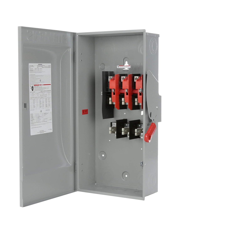 Type 1 Siemens -HI 4 Wire 3 Pole Siemens HF324N 200-Amp 240-volt Fused Heavy Duty