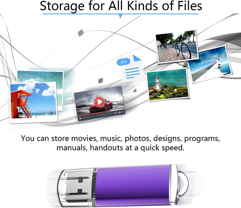 RAOYI 10PCS 4G USB Flash Drive USB 2.0 Memory Stick Memory Drive Pen Drive Orange