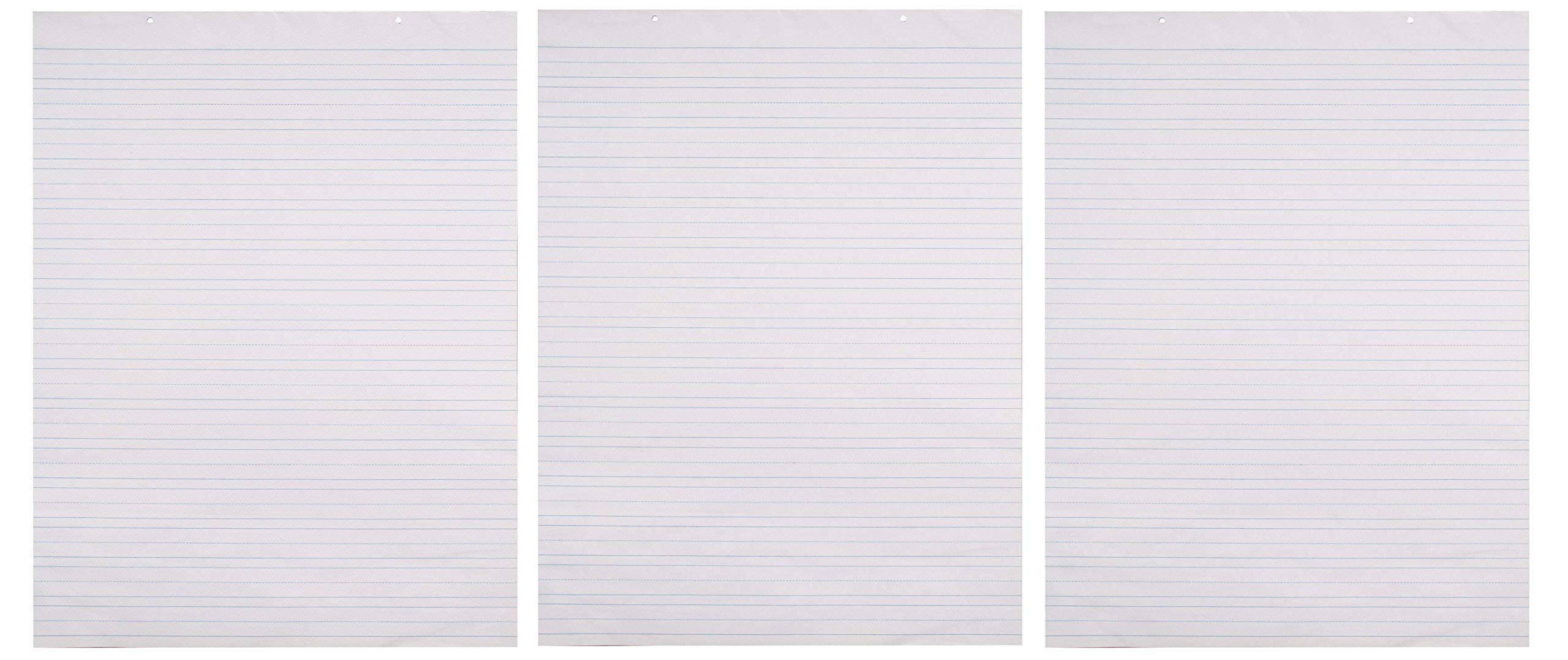 School Smart Chart Paper Pad, 24 x 32 Inches, Ruled 1-1/2 Inch, White, 70 Sheets (Тhrее Pаck) by School Smart (Image #1)