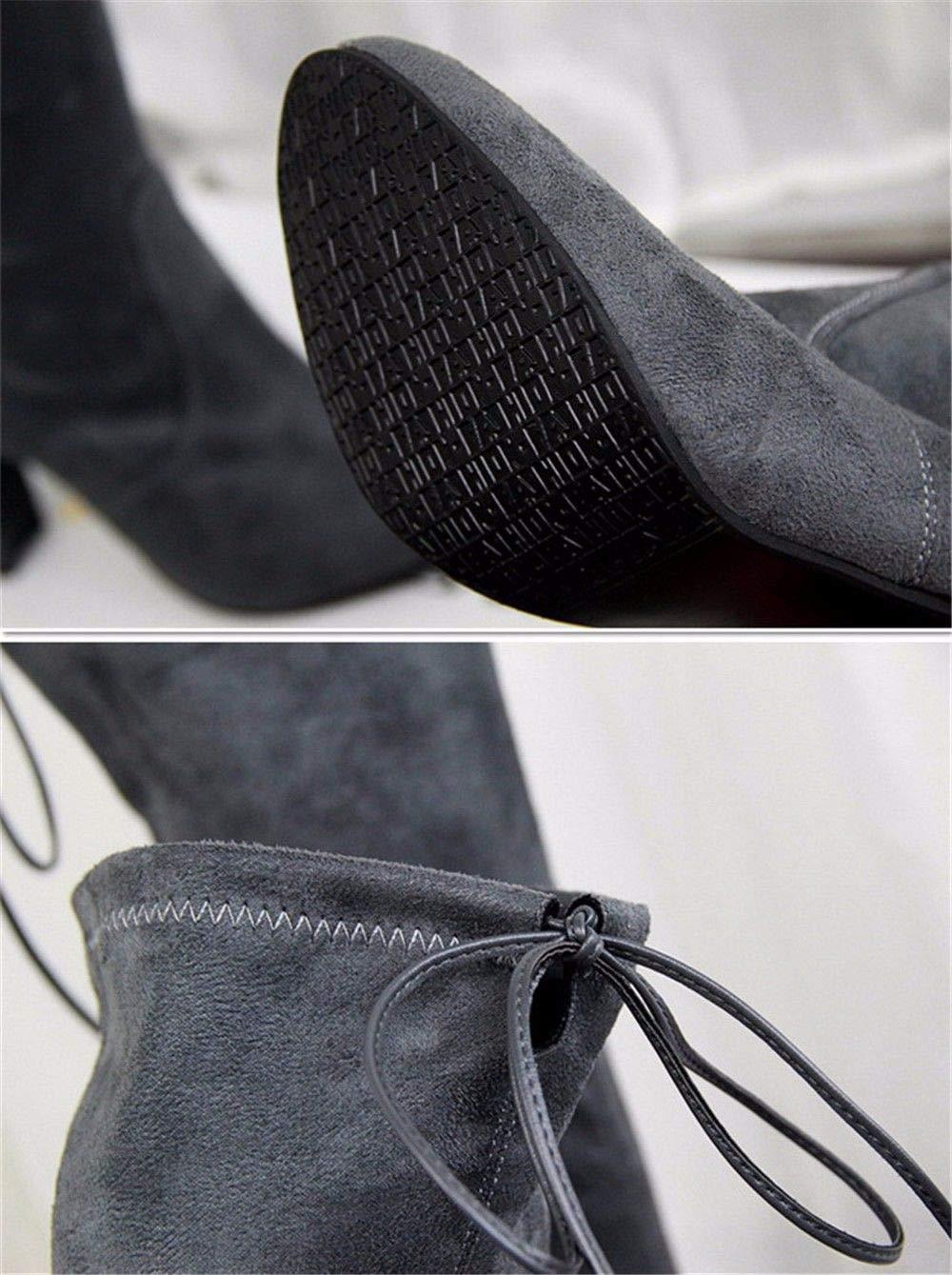 FLYRCX Herbst und Winter mit warmen TIPP mit Grob elastisch elastisch elastisch Velours Stiefel Sohn Fashion Lady Schuhe.  062ea6