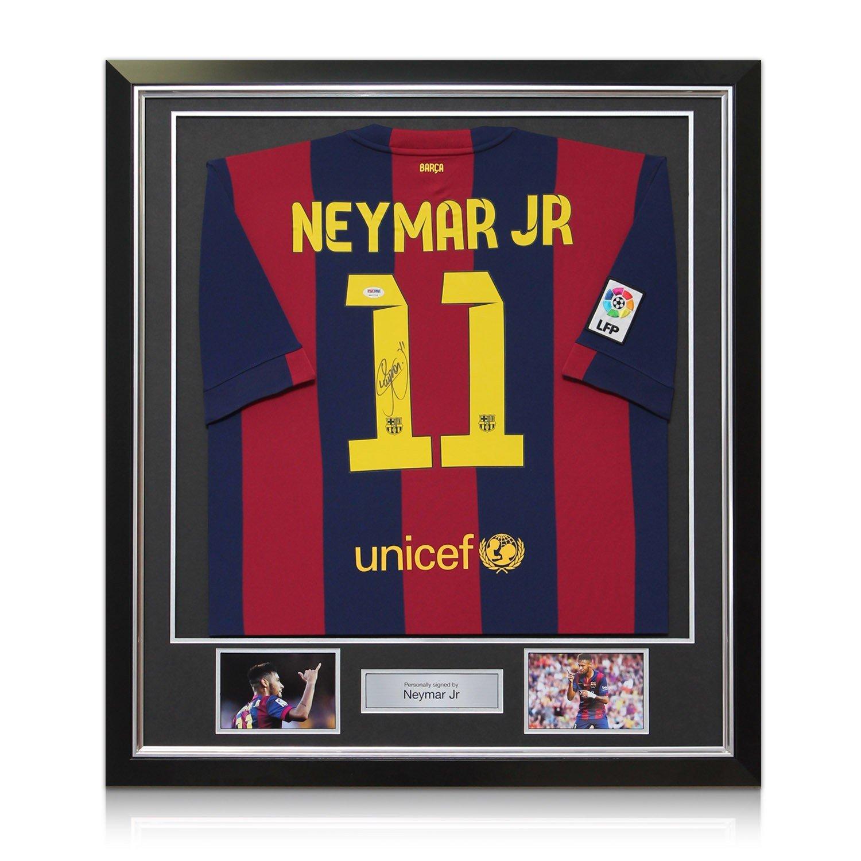 Signiert und gerahmt Barcelona Neymar Jr 2014-15 Fußball-Jersey ...