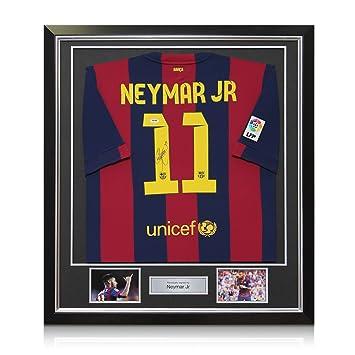 Firmado y enmarcado de Barcelona Neymar Jr 2014-15 camiseta de fútbol: Amazon.es: Deportes y aire libre