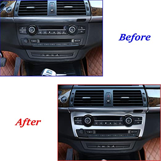 Consola Central Botones de Aire Acondicionado Lentejuelas decoraci/ón calcoman/ías Pegatinas Cromo ABS 26 Piezas JzyhNzd para BMW X5 X6 E70 E71 2008-2014