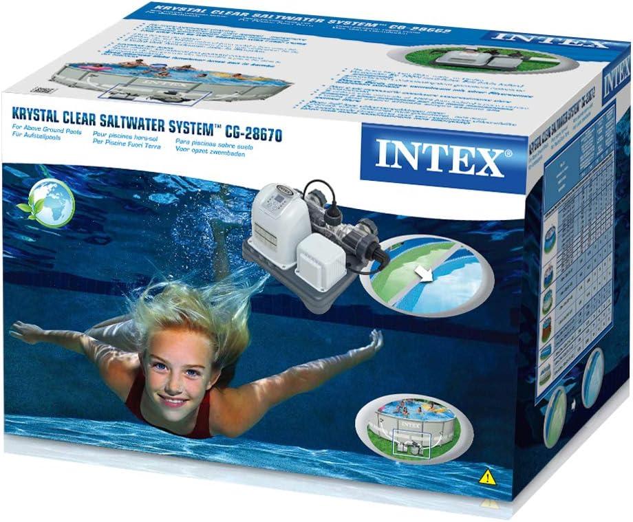 Intex 28670 - Clorador salino ECO 12 gramos/hora - capacidad ...