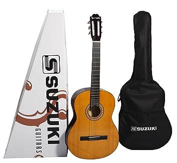 Suzuki SCG2+3/4NL - Guitarra clásica cadete, beis: Amazon.es: Instrumentos musicales