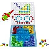 Chiodini Gioco Puzzle Bambino Blocchi Costruzioni Giochi Mattoncini per Bambini, 150 Pezzi