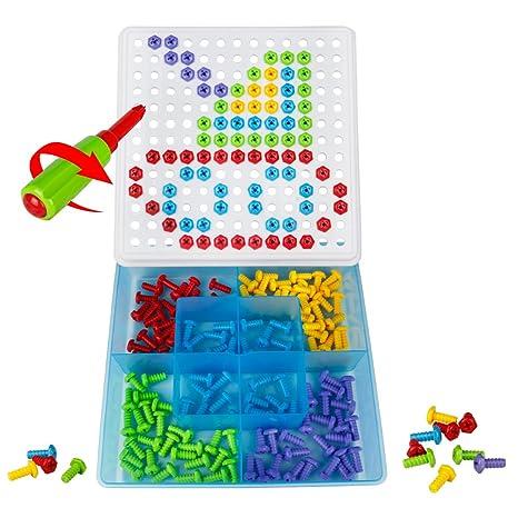 Chiodini Gioco Puzzle Bambino Blocchi Costruzioni Giochi Mattoncini