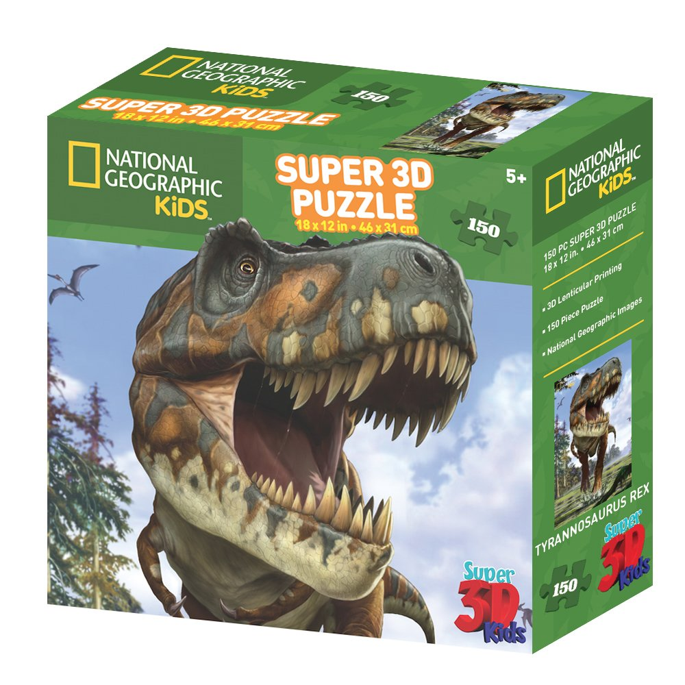 National Geographic NG10808 Kids Super Tyrannosaurus Rex 3D Puzzle (150-Piece) Prime 3D
