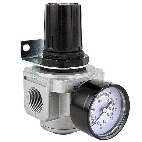 Amazon.com: Compresor de aire Regulador de presión para aire ...