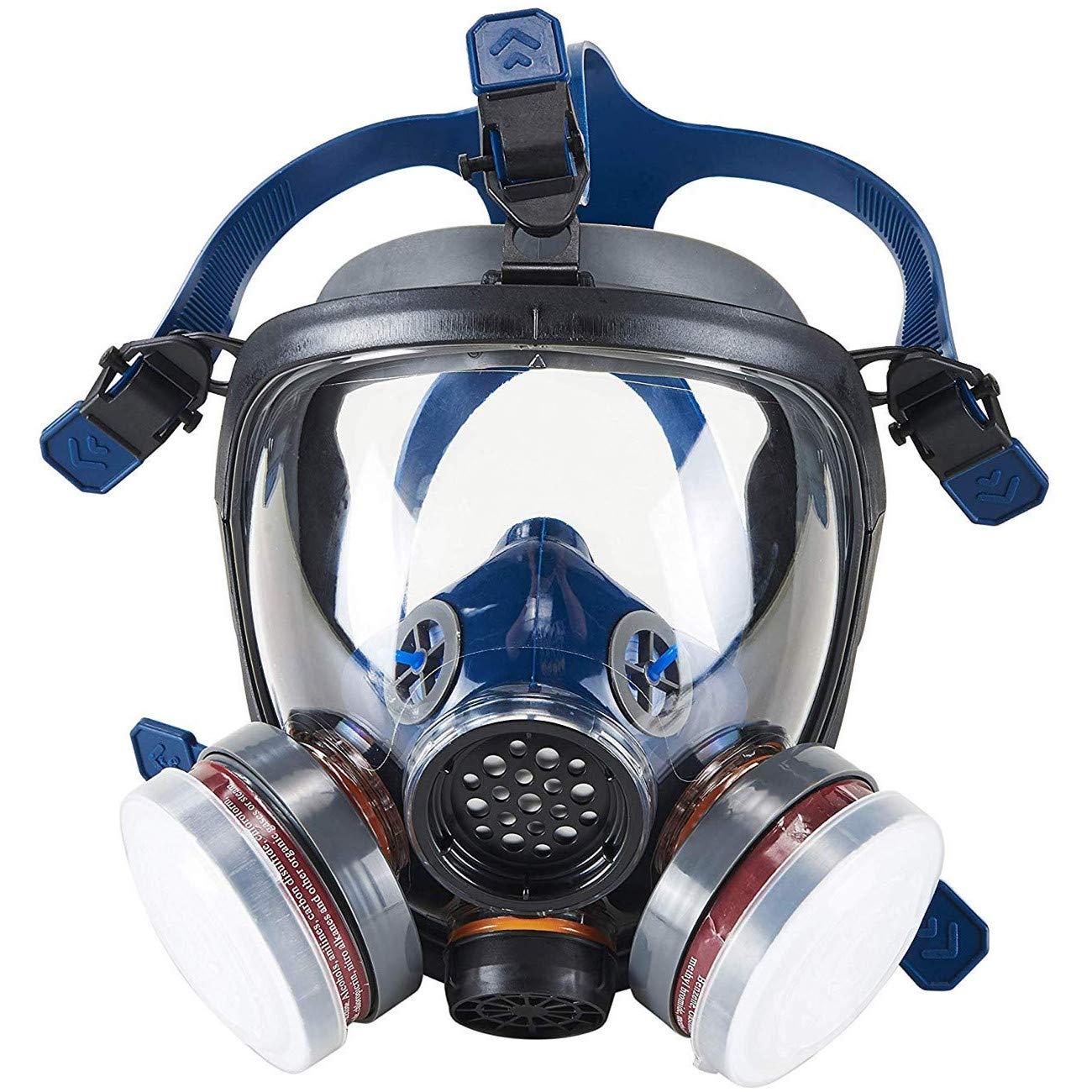 Organic Vapor Full Face Respirator Safety Mask, IVSUN Activated Carbon Respirator Paint Respirator Gas Chemical Dustproof Pesticides Mask (Respirator +1 Pair LDY3 Cartridges) by IVSUN (Image #1)